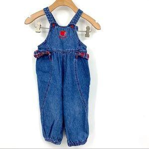 Vintage Baby B'Gosh apple overalls 24m